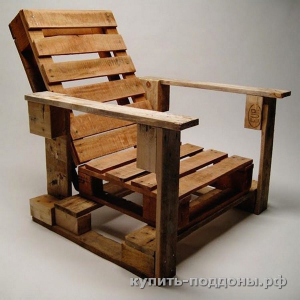 Кресло из паллет своими руками с фото