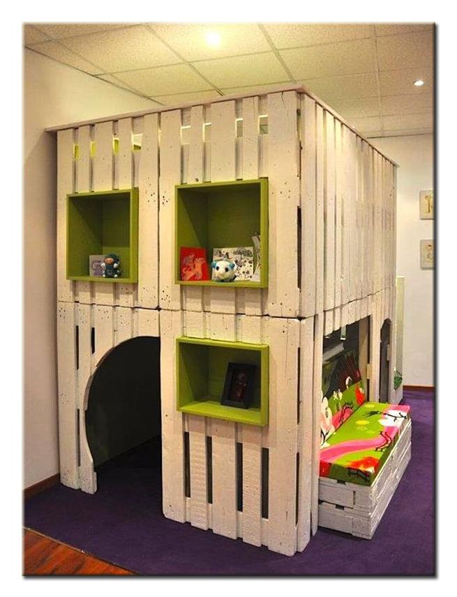 Детский дом из поддонов по шагам