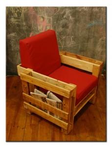 Кресло для гостинной из поддонов