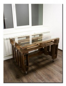 Столик для гостинной из поддонов