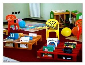Игровая площадка из поддонов для детской