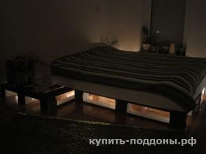 Кровать из поддонов
