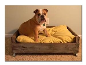 Лежак для животных из паллет