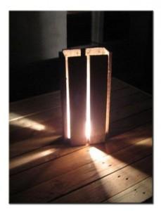 Светильник из паллет