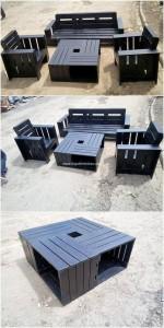 набор мебели из поддонов для улицы